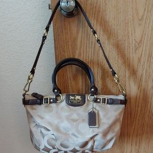 Coach #18650 Madison Signature Satchel Handbag